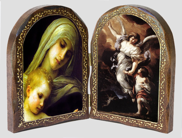 Virgin Mary and Baby Jesus / The Guardian Angel