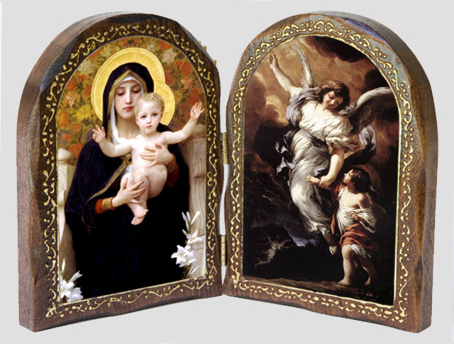 Catholic Diptych - La Vierge au Lys / The Guardian Angel