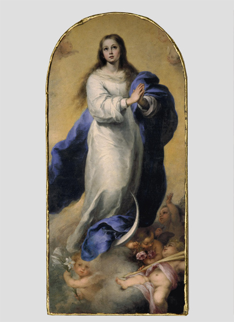 Immaculate Conception Wood Desk Plaque