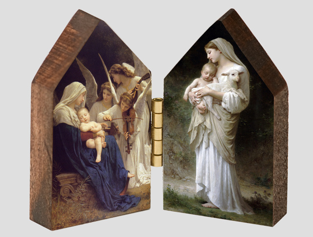 L'Innocence and Song of the Angels Wood Diptych