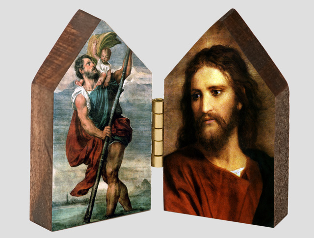 St. Christopher and Christ at 33 Wood Diptych