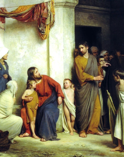 Jesus and the Children - Religious Image